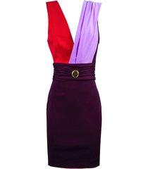 fausto puglisi multicolor lycra e jersey mini dress