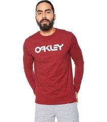 camiseta manga larga rojo oakley