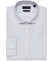 calvin klein infinite non-iron taupe stripe slim fit dress shirt