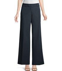lafayette 148 new york women's broadway wide-leg pants - ink - size 8