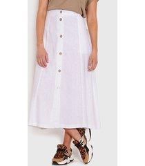 falda wados solid blanco - calce regular
