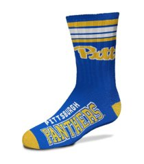 for bare feet pittsburgh panthers youth 4 stripe deuce crew socks