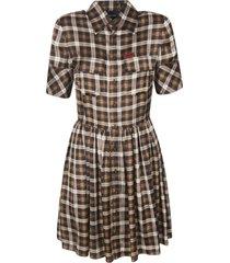 dsquared2 check print dress