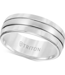 triton men's tungsten carbide ring, comfort fit wedding band (8mm)