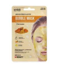 máscara facial de bolhas kiss new york cúrcuma amarela único