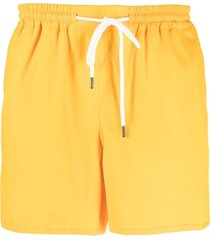 a kind of guise shell swim shorts - yellow