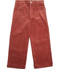 chloé ribbed cotton pants with embossed logo