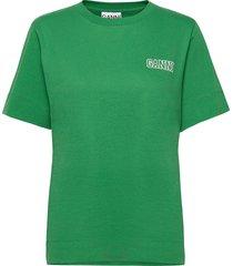 thin software jersey t-shirts & tops short-sleeved grön ganni