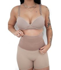 short fanáticos por cintas calcinha modeladora aperta barriga feminina - feminino