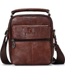 uomo da viaggio vera pelle messenger borsa tracolla borsa