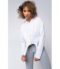 akira ex marks the thot long sleeve corset style hoodie