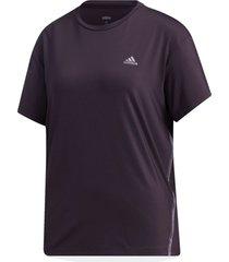 camiseta adidas camiseta glam-on roxo - roxo - feminino - dafiti