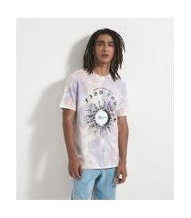 camiseta tie dye com estampa sol | blue steel | roxo | g