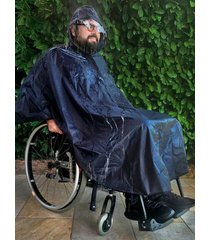 regencape voor rolstoel wellys blauw