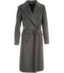 tagliatore double breasted coat w/belt