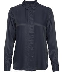 slfarabella-odette ls shirt noos blouse lange mouwen blauw selected femme