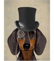 "fab funky dachshund, formal hound and hat canvas art - 19.5"" x 26"""