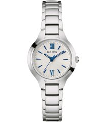bulova women's classic stainless steel bracelet watch 28mm