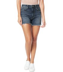 joe's jeans kinsley frayed cotton denim shorts
