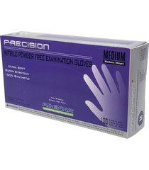 adenna precision 4 mil nitrile powder free exam gloves (violet, medium)