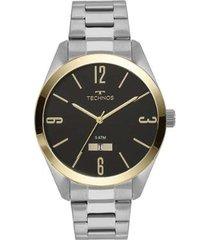 relógio masculino technos 2115mnv/1p