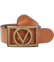 valentino by mario valentino women's dolly logo leather belt - caramel - size s