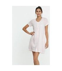 camisola botões manga curta marisa - 10040085890 feminina