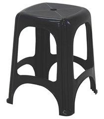 banqueta em plástico niterói 47cm preta