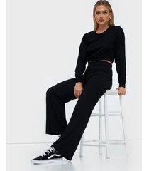 nly trend puff rib set jumpsuits svart