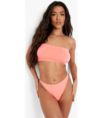 gerecyclede naadloze neon string, coral blush
