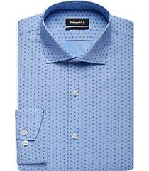 esquire french blue diamond slim fit dress shirt