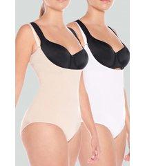 pack body control seamless blanco baziani