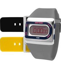 relógio mormaii acquarela colors fzgt8i
