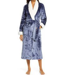 women's nordstrom frosted plush robe, size xx-small - blue