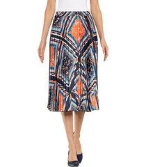 kjol alba moda marinblå::orange::vit