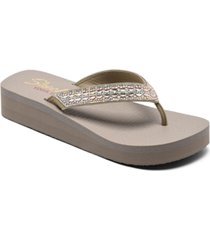 skechers women's cali vinyasa glory day flip-flop thong athletic sandals from finish line