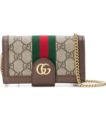 gucci iphone 7 purse - brown