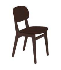 cadeira london tramontina 14060434 tabaco estofado café