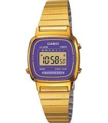 reloj casio retro la670wga-6d tablero lila