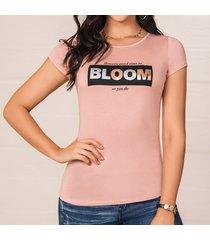 camiseta bloom rosa para mujer croydon