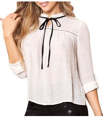 blusa amaya blanco  para mujer croydon