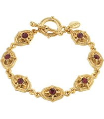 2028 14k gold dipped toggle bracelet