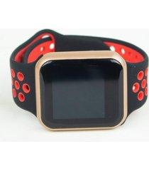 relógio smartwatch fitgear skill pro vermelho/dourado