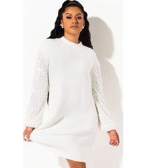 akira house party sequin sleeve dress