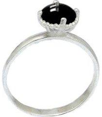 anel pedra onix 925 feminina