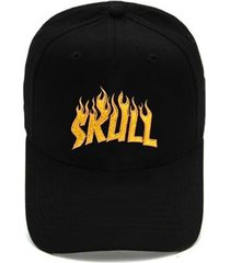 boné skull clothing aba curva dad hat flame