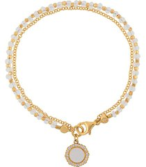 astley clarke mother of pearl luna biography bracelet - metallic