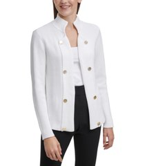calvin klein cotton embellished cardigan