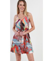 mini vestido estampado jamaica rojo night concept