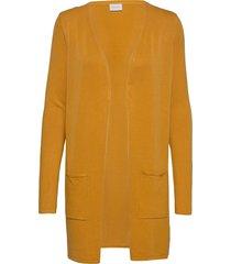 vibolonsia knit pocket l/s cardigan tb stickad tröja cardigan orange vila
